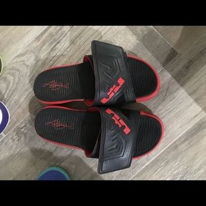 Nike Shoes - Lebron James Nike slides with Air Bubble Size 12.